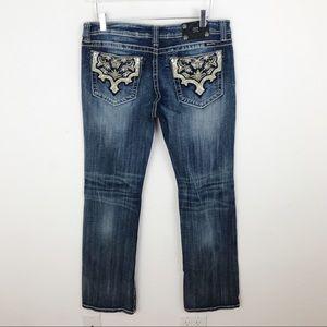Miss Me Dark Wash Bootcut Denim Jeans Size 34